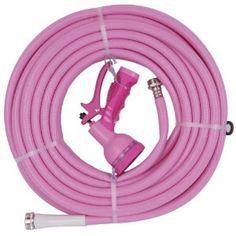 Pink water hose