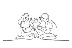 Family Sketch, Family Drawing, Family Illustration, Illustration Art, Mothers Day Drawings, Minimalist Drawing, Abstract Line Art, Photoshop Design, Line Drawing