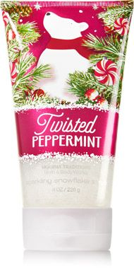 Twisted Peppermint Sparkling Snowflake Scrub - Signature Collection - Bath & Body Works