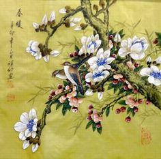 Chinese Magnolia Painting,40cm x 40cm,2516001-x