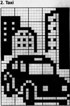 Crochet Car, Crochet Baby Clothes, Knitting Charts, Knitting Patterns, Crochet Patterns, Simple Cross Stitch, Cross Stitch Rose, Cross Stitch Designs, Cross Stitch Patterns