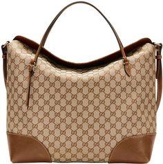Gucci Bree Original GG Canvas Large Tote Bag, Beige