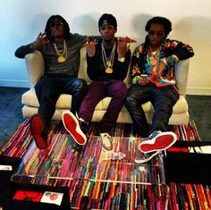 Migos Spotted Wearing Christian Louboutin Sneakers In Los Angeles- http://getmybuzzup.com/wp-content/uploads/2014/01/244130-thumb.png- http://getmybuzzup.com/migos-spotted-wearing-christian-louboutin/- Migos Spotted Wearing Christian Louboutin Sneakers  By Don Bleek  Atlanta's Hip-Hop duo Migos (Quavoyrn, Offset & Takeoff) traveled to the West coast for their Los Angeles promo run. They shopped on Melrose Avenue and stopped by the Beat by Dre offices. The trio snea