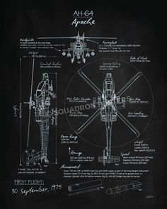 Share Squadron Posters for a 10% off coupon! AH-64 Apache Blackboard Art #http://www.pinterest.com/squadronposters/