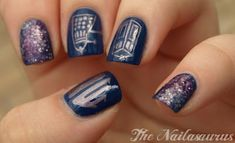 8 ways to geekify your wedding day nails | Offbeat Bride  Doctor Who nail art. Just perfect.