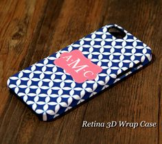 Monogram iPhone Case Quatrefoil Blue Pink 6s 6 case