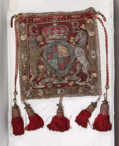 Burse  National Trust Inventory Number 998667 Date1630 - 1670 MaterialsGold thread, Satin, Silver thread, Velvet CollectionSizergh Castle, Cumbria