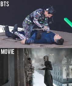 CGI has gotten really amazing over the years! Here's how they filmed one of the epic scenes in Avengers: Infinity War _______________________________________________________ The Avengers, Avengers Memes, Marvel Memes, Marvel Dc Comics, Thor Marvel, Marvel Actors, Marvel Universe, Dc Memes, Funny Memes