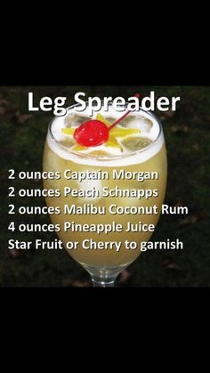 Leg spreader ooh be careful of this one yum! Cocktail Shots, Cocktail Recipes, Cocktails, Brunch Drinks, Drink Recipes, Liquor Drinks, Alcoholic Drinks, Drinks Alcohol, Alcohol Recipes