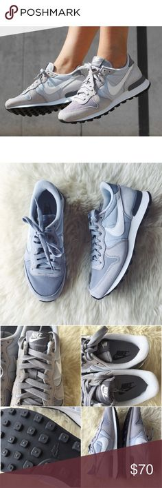 Nike Grey Internationalist Sneakers •Classic good looks and pure comfort are a must the world over. Get 'em both with the Nike Internationalist Casual Shoes. With worldly style and sleek performance, these casual sneakers will keep feet happy whether you're kickin' it at home or headed to countries near and far.  •Women's size 7, true to size.  •New in box (no lid).  •NO TRADES/HOLDS/PAYPAL/MERC/VINTED/NONSENSE. Nike Shoes Sneakers