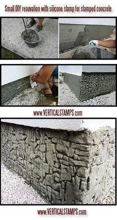 House renovation with silicone stamp for vertical stamped concrete |verticalstamps| Easy and Cheap Do It Yourself Updating and Renovating Your House – Home Decor Tips and Tricks, Remodeling and Decorating Hacks  Easy and Cheap | DIY Home Improvement On A Budget  |stempel beton| www.verticalstamps.com FB:https://www.facebook.com/VerticalStamps