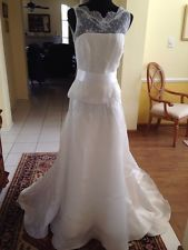 Yes, I would welcome someone wearing this...no worries, you will not be mistaken for the bride. If it is too risky color wise, there is always dyeing! Watters 2 Piece Ivory Wedding Dress Sz 6 NWT and Sz 18 NWT (Priced Individually)