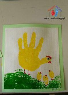 gallina con impronta