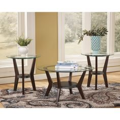 Signature Design by Ashley Fantell Dark Brown 3-piece Occasional Table Set