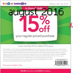 Toys R Us coupons & Toys R Us promo code inside The Coupons App. off at Babies R Us & Toys R Us, or online via promo code May Free Printable Coupons, Free Printables, Dollar General Couponing, Coupons For Boyfriend, Toy R, Grocery Coupons, Love Coupons, Extreme Couponing, Babies R Us