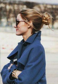 Pinterest: DEBORAHPRAHA ♥️ Olivia palermo bun hair style