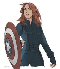 natasha with the shield