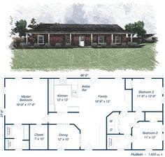 40x50 Metal Building House Plans 40x60 Home Floor Plans Http Www Thehomesdirect Com Homes Detail For The Home Pinterest House Plans