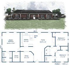 ✟♥ ✞ ♥✟ love this - the Hudson floor plan! 1620 sq ft. ✟ ♥✞♥ ✟
