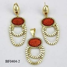 Earrings and pendant.