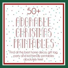 Pretty Providence | A Frugal Lifestyle Blog: Tons of the BEST Free Christmas Printables of All Types