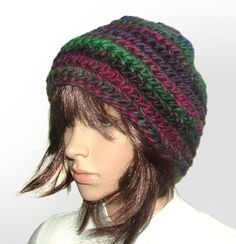 Multi chunky beanie #crochet beanie be Renate Kirkpatrick