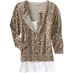 Old Navy Womens Animal-Print Cardigans