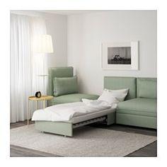 VALLENTUNA Divano a 3 posti con letto - Hillared verde - IKEA