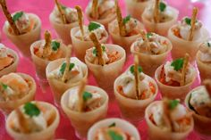 crispy cones of lobster and crayfish cocktail with bloody mary