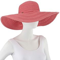 Tie-Trim Wide-Brim Floppy Hat - jcpenney