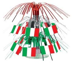 Italian Flag Mini Cascade Centerpiece Party Accessory (1 count) (1/Pkg) Beistle. $2.58