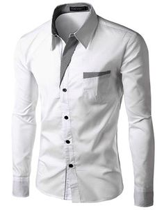 Clothing Square Shirt Unisex Embroidery Shirt Male Casual Cotton Slim Fit Camisa Social M-4XL