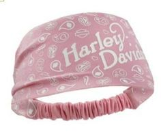 Harley Davidson Women's Paisley Pink Polyester Headband Scrunchie. HE122407
