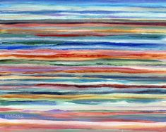 """Sea and Sky, 8 x 10"""" original acrylic impressionist painting Pamela Parsons, ocean painting, seascape, seashore painting, peaceful painting by Parsonspaintings on Etsy"""