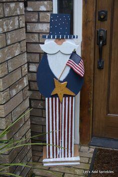 Let's Add Sprinkles: Uncle Sam Patriotic Crafts, Patriotic Party, July Crafts, Summer Crafts, Fourth Of July Decor, 4th Of July Decorations, July 4th, 4th Of July Wreath, Birthday Decorations