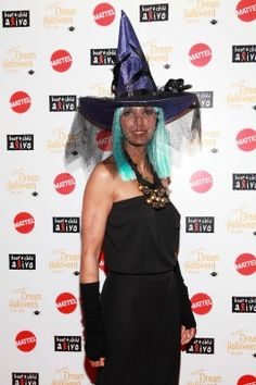 Padma Lakshmi is spotted in a witch outfit at11th annual #Dream #Halloween New York at Hard Rock Cafe, in New York City on October 21, 2012 #Halloween