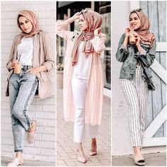 Latest Hijab Fashion : Summer hijab trends – Just Trendy Girls Hijab Casual, Hijab Fashion Casual, Hijab Fashion Summer, Street Hijab Fashion, Hijab Chic, Muslim Fashion, Modest Fashion, Casual Outfits, Fashion Outfits