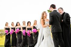 Shop the look at Brideside (Alfred Sung) Black Bridesmaids, Black Bridesmaid Dresses, Bridesmaids And Groomsmen, Wedding Dresses, Wedding Hair And Makeup, Hair Makeup, Alfred Sung, Flower Girls, Weeding
