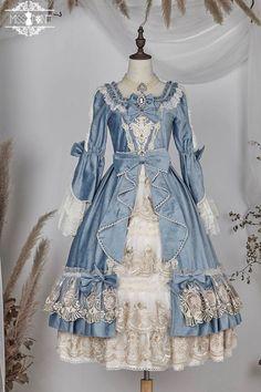 Pastel Fashion, Kawaii Fashion, Lolita Fashion, Cute Fashion, Look Fashion, Old Fashion Dresses, Old Dresses, Pretty Outfits, Pretty Dresses