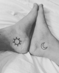 Sun and moon ankle tattoo!