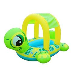 Leegor New Sunshade Baby Infant Float Seat Car Flamingo Boat Inflatable Swim Ring Pool Premium Kid's Chair Seat Play Beach Raft -- You can find more details by visiting the picture link. (This is an affiliate link). Water Sports Store, Baby Canopy, Sun Canopy, Boat Cartoon, Inflatable Pool Toys, Baby Float, Discovery Toys, Swim Training, Car Sun Shade