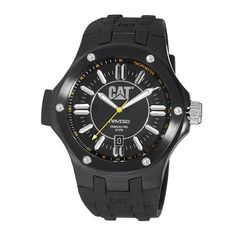 CAT Men's A116121121 Navigo Date Black Analog Dial with Black Rubber Strap Watch Caterpillar. $126.43. Quartz movement with Date Display. Black Dial with Stainless Steel Case. Black Rubber Strap with Buckle. Luminous Hands and Marker. Water-resistant to 100 M (330 feet). Save 16%!