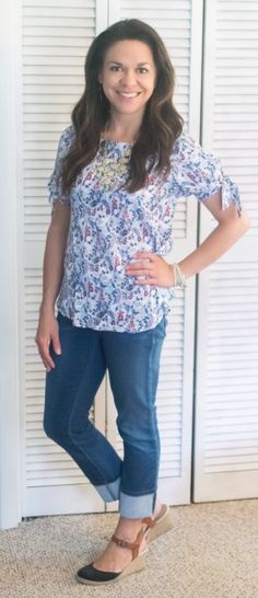 Papermoon Faraday Tie Sleeve Top On Stitch Fix Review May 2017 #stitchfix #somuchtoenjoy #springstyle