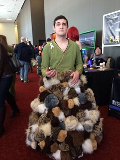I can't believe some guy walked around a con in a full on Tribble skirt! XD