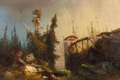 lars hertervig - Pesquisa Google Western Coast, Beautiful Sky, Various Artists, Kitsch, Art Inspo, Art History, Norway, Nature, Painting