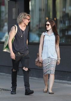 Jamie Campbell Bower and Lily Collins have such great style. gosh i love them