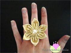 fabric flower ring
