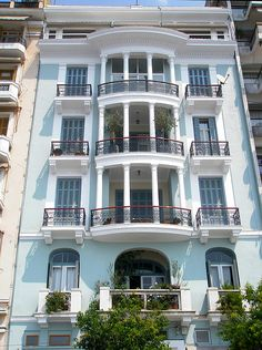 Beautiful Blue block of flats , Thessaloniki of the beloved past