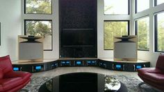 High end audio audiophile JBL speakers and McIntosh amps (fb)