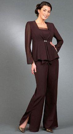 Elegant Evening Pant Suits Ursula Chiffon And Sequin 3pc